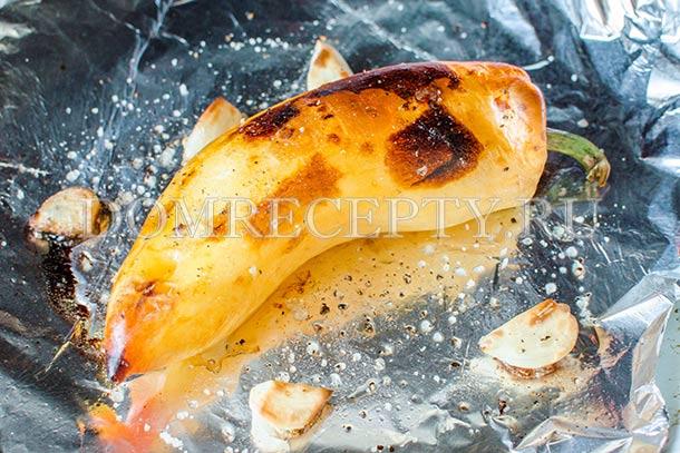 Нагреваем перец в духовке