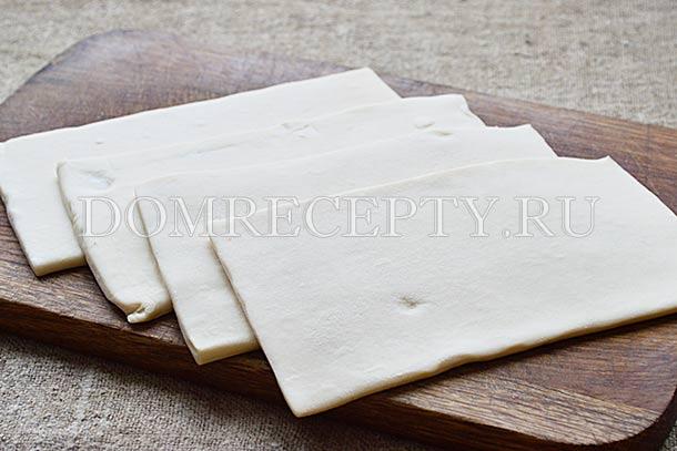 Размороженное слоеное тесто