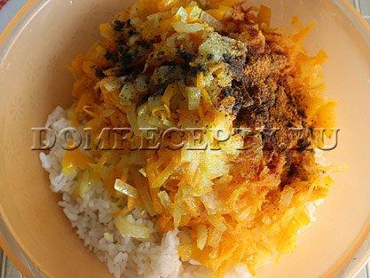 Шаг 5 - Смешиваем рис с овощами