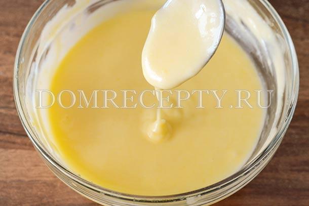 Перемешиваем до растворения масла