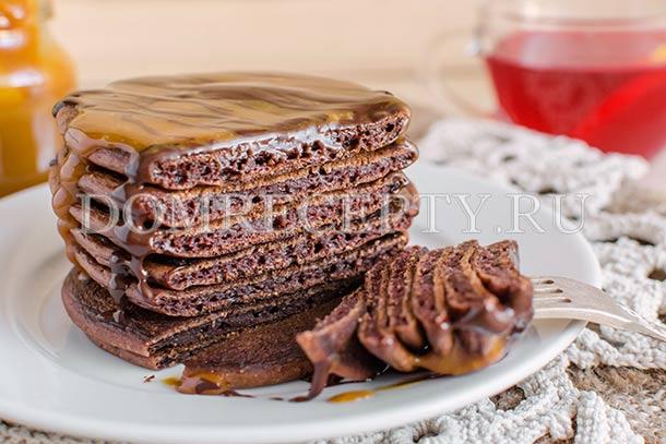 Американские шоколадные панкейки