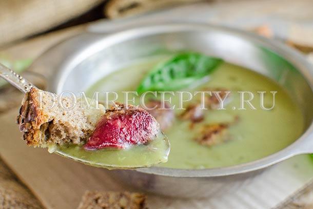 Баклажановый суп-пюре с куриной печенью