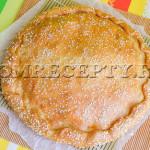Быстрый пирог с капустой и кабачком