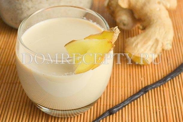 Чай с имбирем на молоке - рецепт с фото