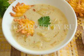 Чесночный суп с сыром