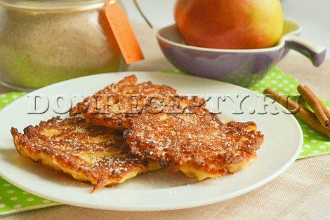 Яблочные оладьи - рецепт с фото