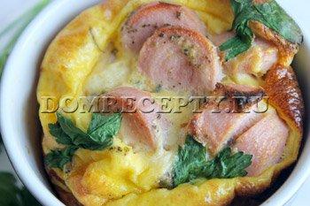 Как приготовить пышный омлет в духовке - рецепт с фото