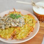 Картофельные драники в духовке - рецепт с фото