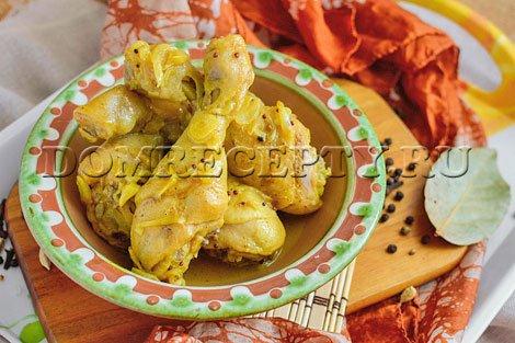 Курица в соусе карри по-индийски