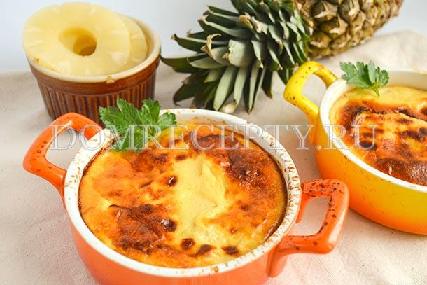 Курица с ананасами, запеченная в духовке