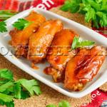 Куриные крылышки в вустерском соусе