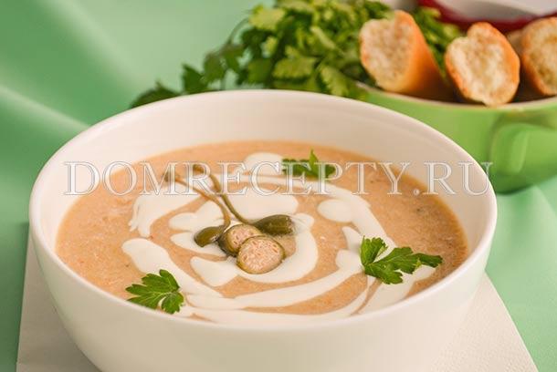 Куриный суп-пюре со сливками - рецепт с фото