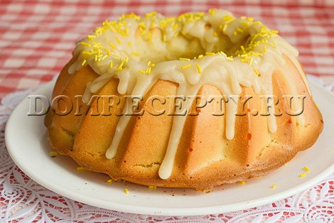 Лимонный кекс на йогурте - рецепт с фото