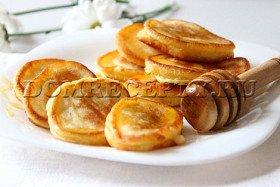 Оладьи на кефире с апельсиновой цедрой - рецепт с фото