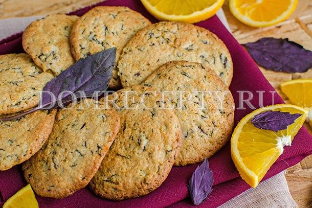 Печенье с апельсиновой цедрой и базиликом
