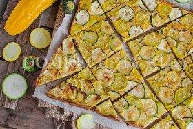 Пирог с кабачками на сыворотке