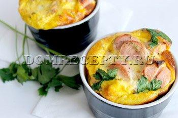Приготовления омлета в духовке - рецепт с фото