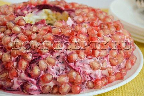 Как приготовить салат «Гранатовый браслет» - рецепт с фото