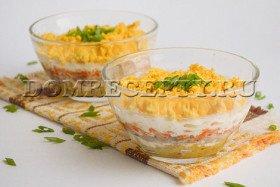 Салат «Мимоза» с сайрой - рецепт с фото