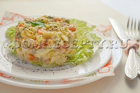 Салат «Столичный» с курицей - рецепт с фото