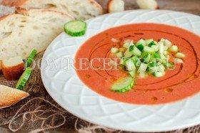 Холодный суп гаспачо из помидоров