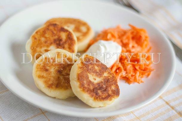 Несладкие сырники из творога и картофеля - рецепт с фото
