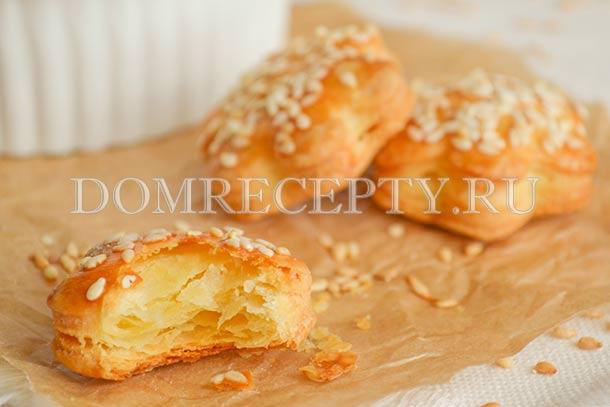 Сырное печенье с плавленым сырком