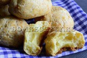 Сырные булочки из заварного теста - фото-рецепт