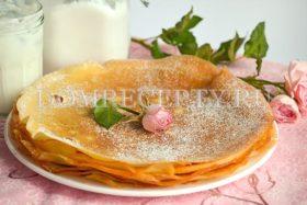 Тонкие и нежные блины на йогурте - рецепт с фото