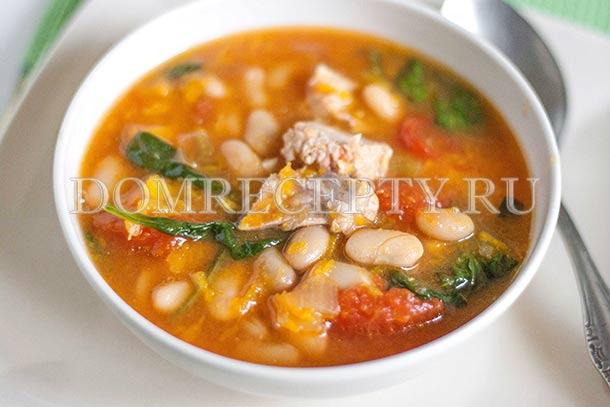 Тыквенный суп со свининой