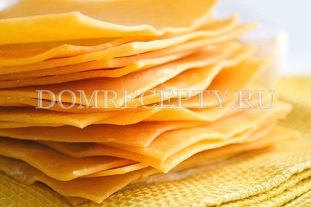 Листы для лазаньи, приготовленные в домашних условиях