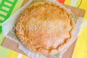 Быстрый пирог с капустой и кабачком из бездрожжевого теста