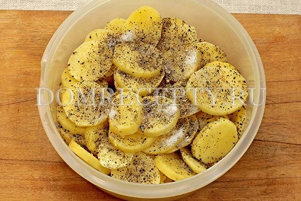 Режем картошку кружочками