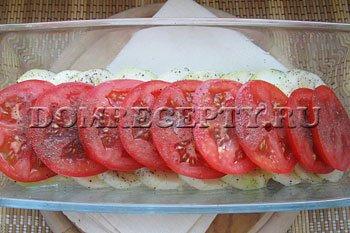 Шаг 5 - Выкладываем помидоры