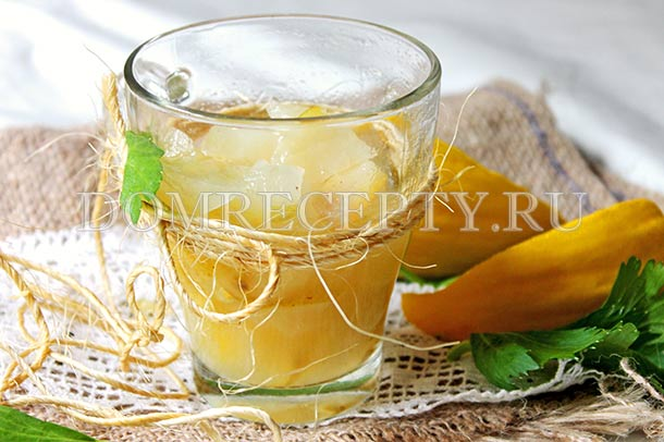 Дынное варенье с лимоном, приготовленное на зиму