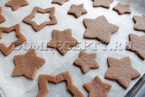 Имбирное печенье с какао к новогодним праздникам, пошаговый рецепт с фото