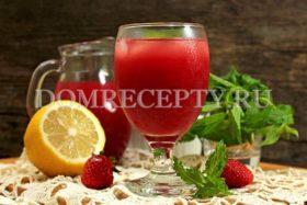 Лимонад из клубники с мятой и лимоном