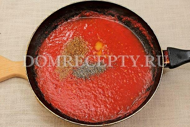 Делаем томатную заливку из помидоров