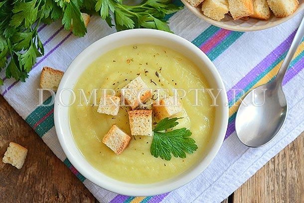 Картофельно-кабачковый крем-суп со сливками