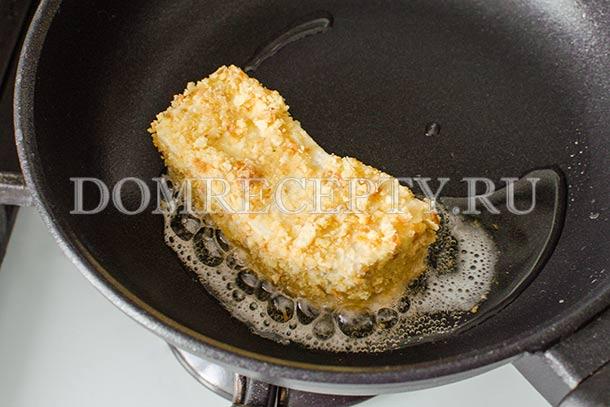 Обжариваем сыр тофу