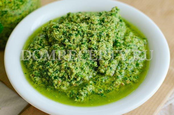 Зеленый соус из петрушки