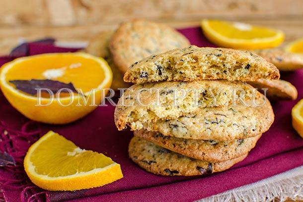 Мягкое апельсиновое печенье с базиликом