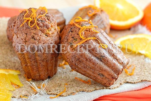 Апельсиновые маффины с шоколадом