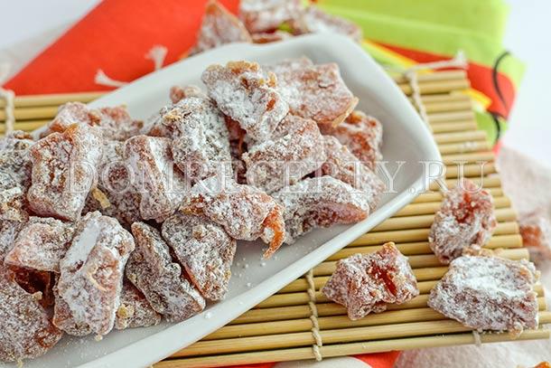 Домашние цукаты из тыквы, приготовленные в духовке