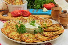 Картофельные драники с кабачком