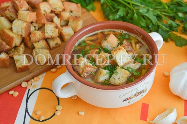 Гороховый суп без мяса и зажарки