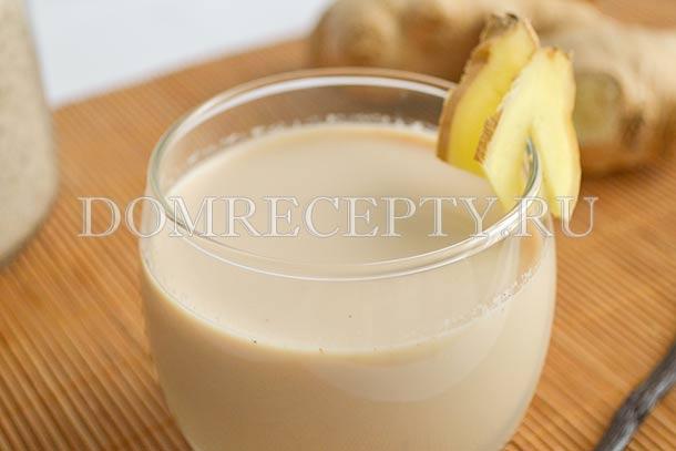 Имбирный чай на молоке