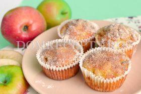 Яблочные маффины с корицей
