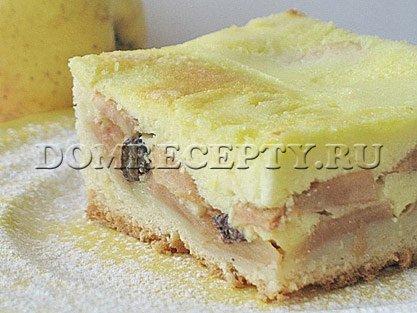 Яблочный пирог из дрожжевого теста - рецепт с фото