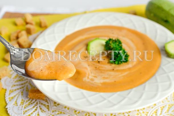 Кабачковый суп-пюре с овощами